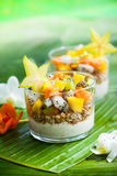Breakfast with exotic fruits Stock Photography