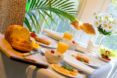 Breakfast extravaganza Royalty Free Stock Photography