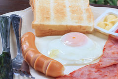 Breakfast fast convenient Stock Images