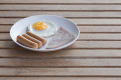 Breakfast the first meal of the day. Breakfast is an important meal We work with a power Royalty Free Stock Image