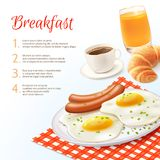 Breakfast Food Background Royalty Free Stock Image