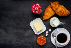 Breakfast Food and Copy Space stock photo