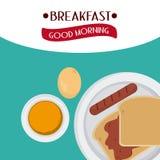Breakfast food design Stock Photography