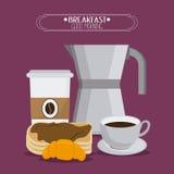 Breakfast food design Stock Images
