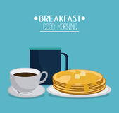 Breakfast food design Royalty Free Stock Photography