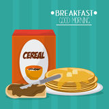 Breakfast food design Stock Images
