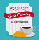 Breakfast food design Royalty Free Stock Photos