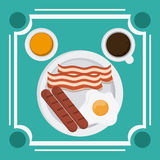 Breakfast food design Stock Image