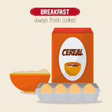 Breakfast food design Stock Photos