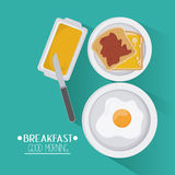 Breakfast food design Royalty Free Stock Photo