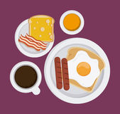 Breakfast food design Royalty Free Stock Image