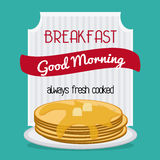 Breakfast food design Stock Photography