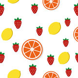 Breakfast food and drinks pattern. Breakfast food and drinks in flat style vector pattern stock illustration