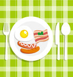 Breakfast food with egg  Stock Images