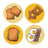 Breakfast food icons. Icon vector illustration graphic design vector illustration