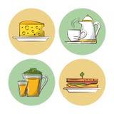 Breakfast food icons. Icon vector illustration graphic design royalty free illustration