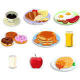 Breakfast food icons Royalty Free Stock Photo