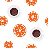 Breakfast food pattern in flat style. Royalty Free Stock Photography