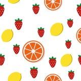 Breakfast food pattern in flat style. Breakfast food and drinks in flat style vector pattern royalty free illustration