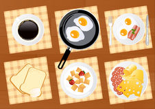 Breakfast food set Royalty Free Stock Images