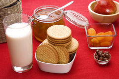 Breakfast foods Stock Images