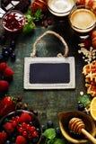 Breakfast frame Stock Image