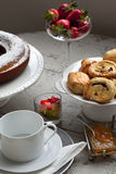 Breakfast. French breakfast on a table Stock Image