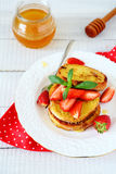 Breakfast - French toast with berries Royalty Free Stock Images