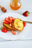 Breakfast - French toast and berries Royalty Free Stock Photo