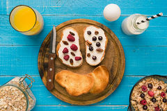 Breakfast of french toast with fresh berries Royalty Free Stock Image