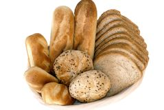 Breakfast, fresh baked  bread. Royalty Free Stock Image