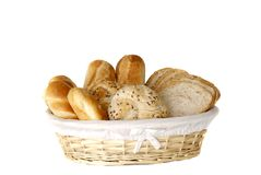 Breakfast, fresh baked  bread. Royalty Free Stock Photos