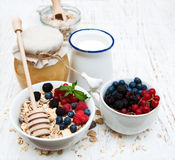 Breakfast with fresh berries Royalty Free Stock Image