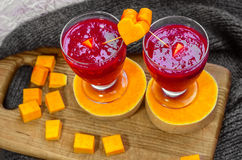 Breakfast of fresh berry smoothies Royalty Free Stock Photo
