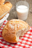 Breakfast with fresh bread Royalty Free Stock Images