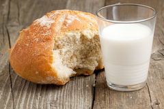 Breakfast with fresh bread Stock Photography