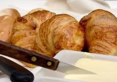 Breakfast, fresh bread. stock photos