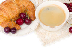 Breakfast with fresh coffee Stock Photography