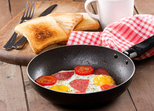 Breakfast with  fried egg Royalty Free Stock Photography