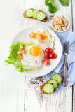 Breakfast with fried egg Stock Image