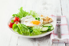 Breakfast with fried egg Stock Photo