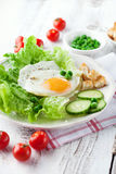 Breakfast with fried egg Royalty Free Stock Image