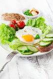 Breakfast with fried egg Royalty Free Stock Images