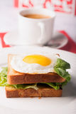 Breakfast: fried egg Royalty Free Stock Image