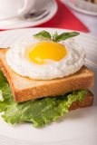 Breakfast with fried egg Royalty Free Stock Photo