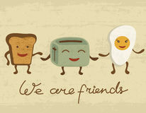 Breakfast friends Stock Images