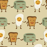 Breakfast friends pattern Royalty Free Stock Photos