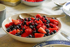 Breakfast fruit bowl Stock Photography