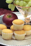 Breakfast Fruit and Muffins Royalty Free Stock Images