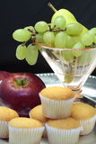 Breakfast Fruit and Muffins Royalty Free Stock Photo
